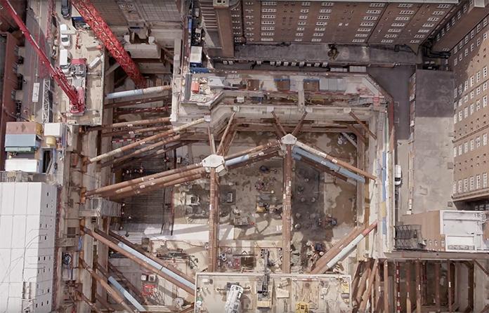 Watch: Bouygues' huge excavation for NHS in London