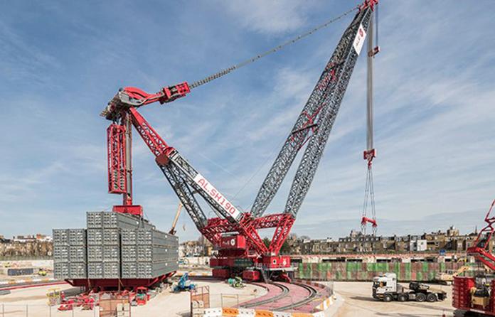 Meet the man operating London's biggest crane