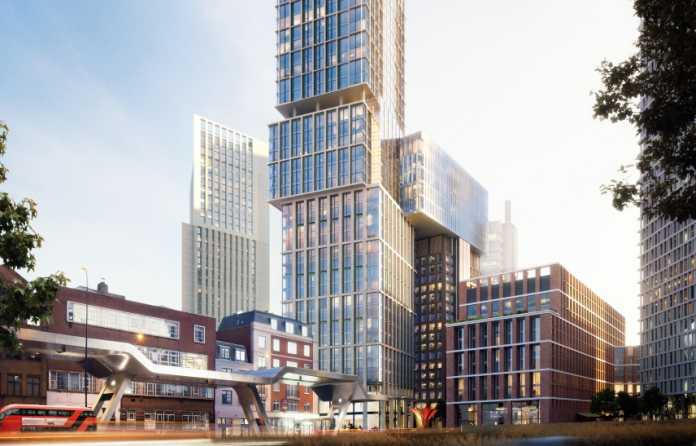 Video | Multiplex completes sky bridge 18 storeys up at Nine Elms