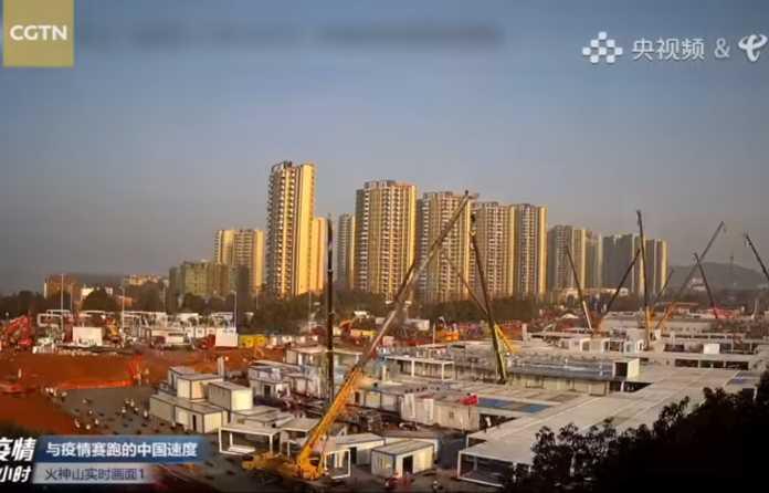 Video   Wuhan coronavirus hospital built in just 10 days