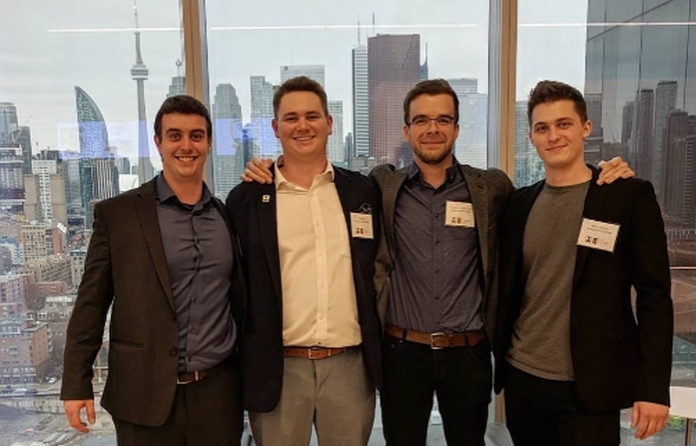The DGC Toronto team: Jonathan Isenegger, Philip Jager, Kristopher Turnbull-Poulin, and Maxim Sokolicz