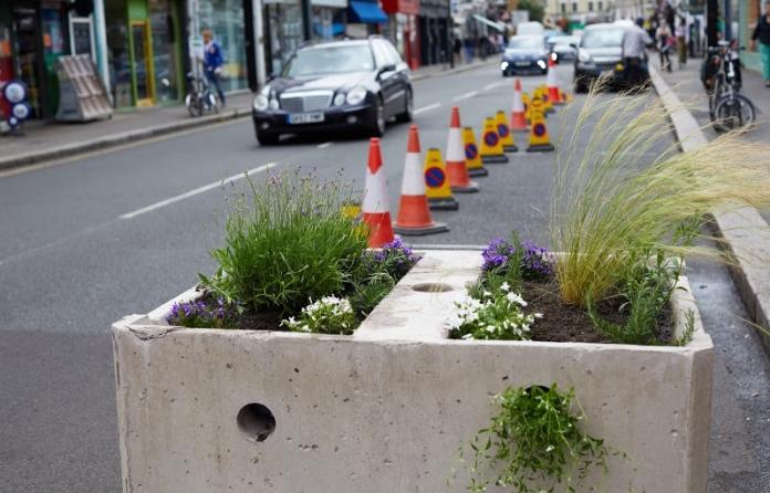 Self-watering roadblocks and plastic kerbs: London's post-lockdown streets