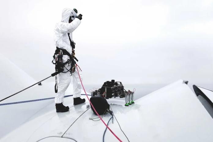 Video   Robot in wind turbine 'blade walk'