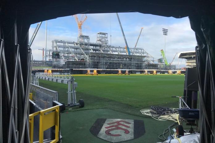 Photos   Fulham FC riverside stand progresses